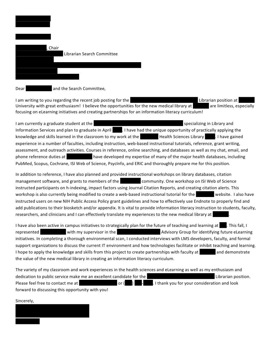 International business cover letter