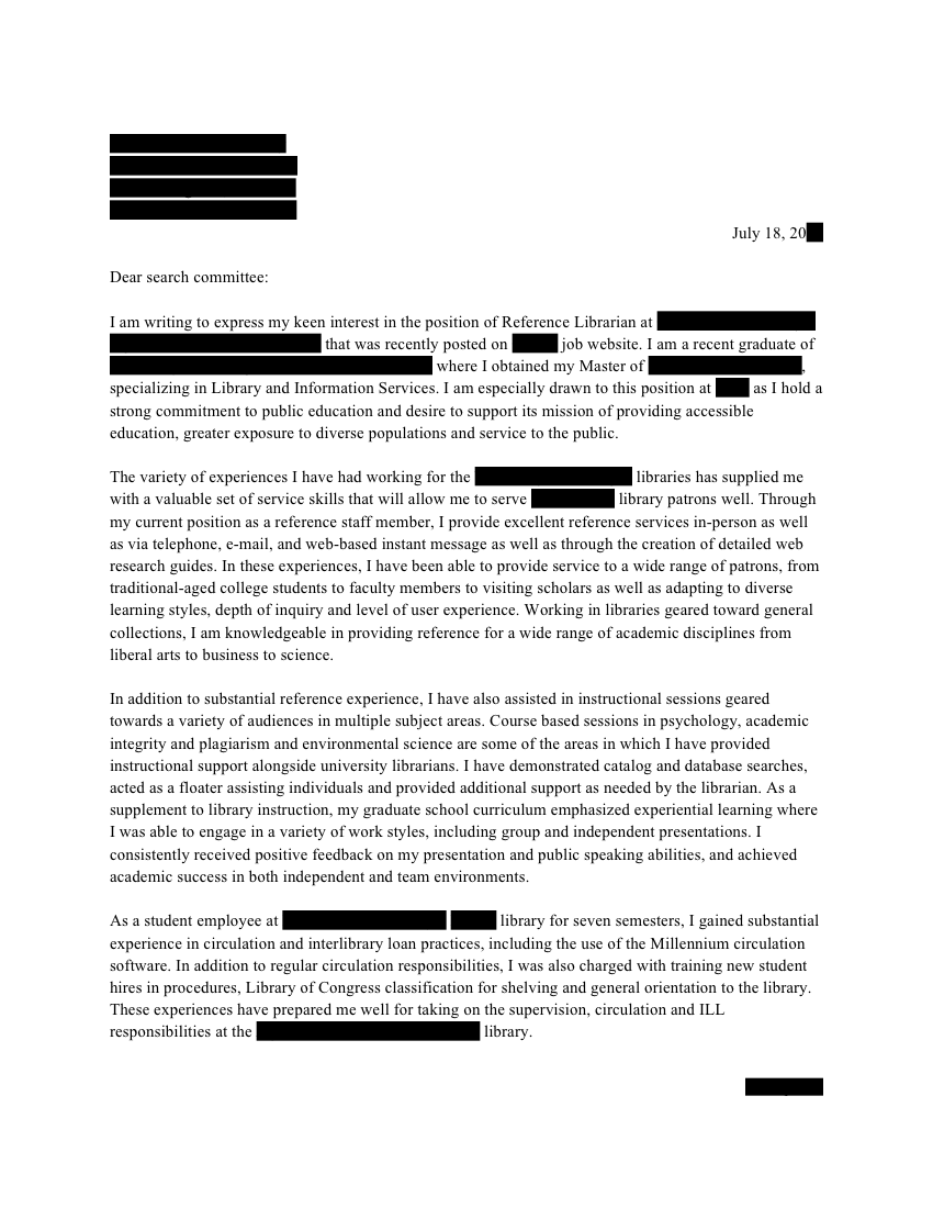 academic reference librarian cover letter open cover letters. Resume Example. Resume CV Cover Letter