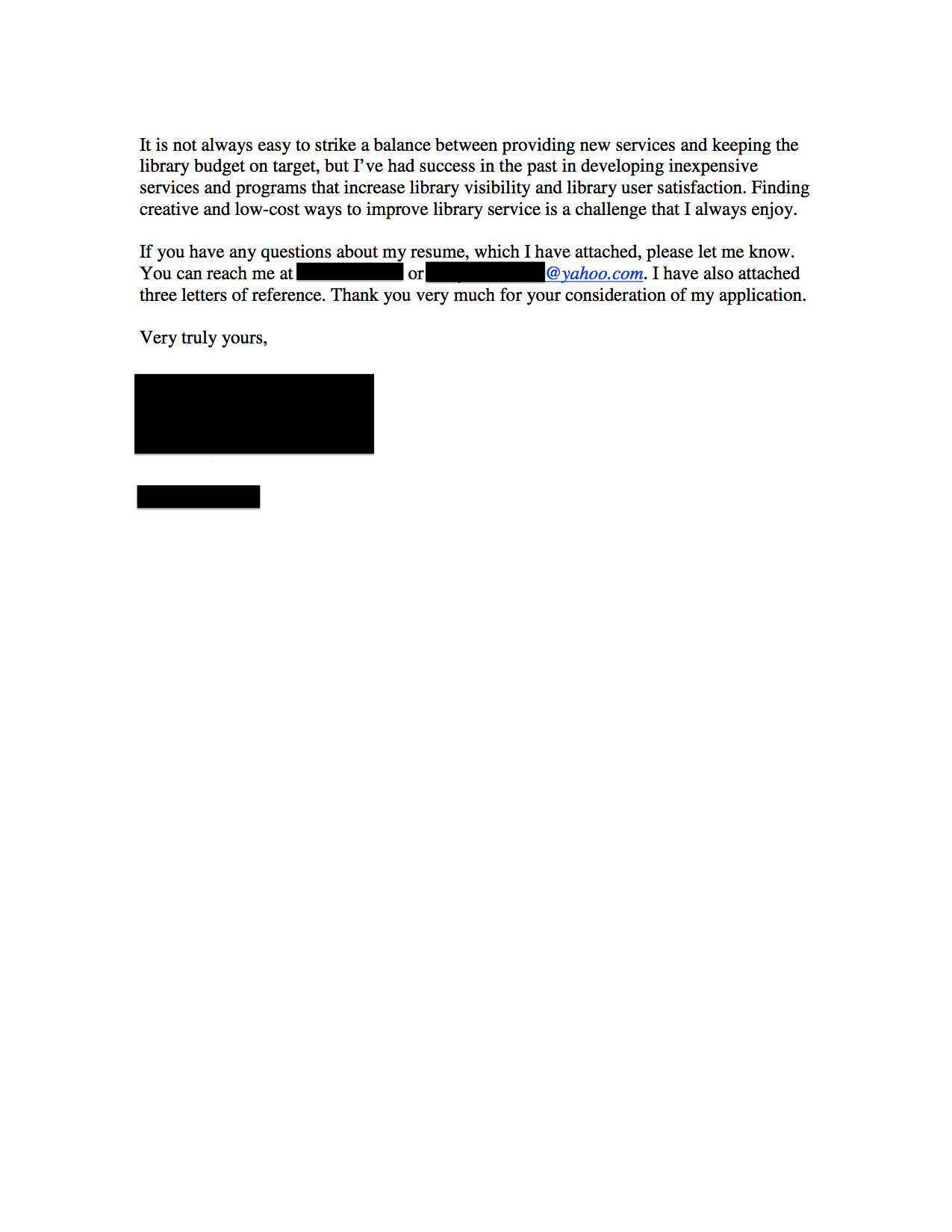 Email Cover Letter Samples - Job Searching - About com