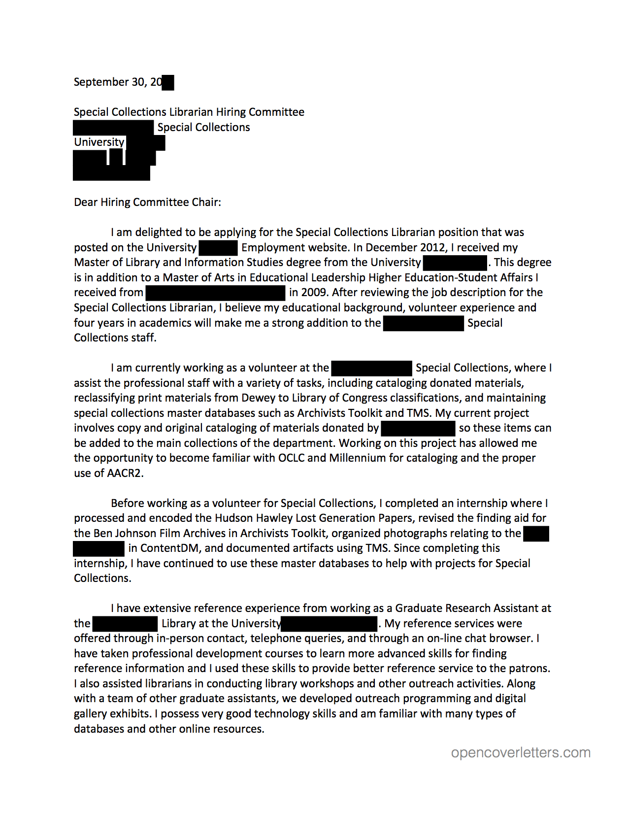 Awesome Best Cover Letter Opening