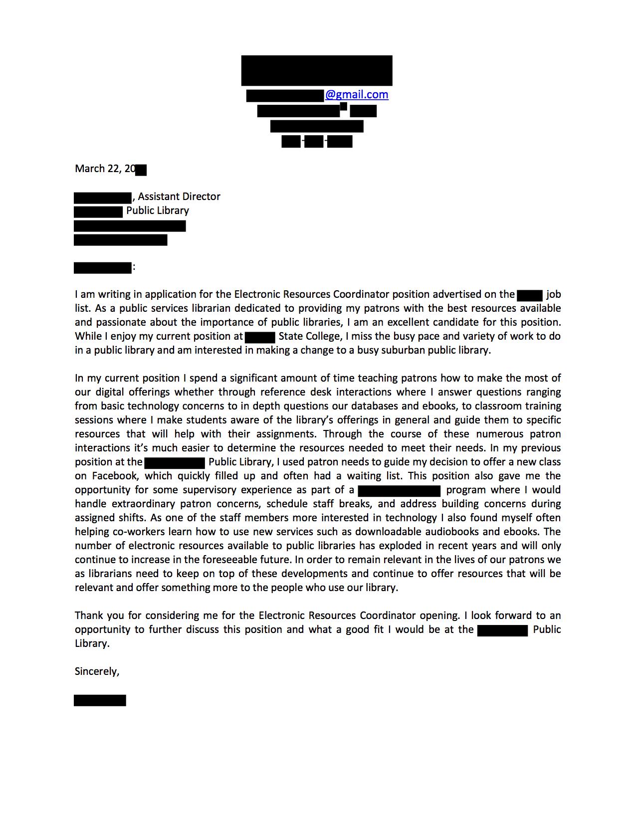 community service coordinator cover letter